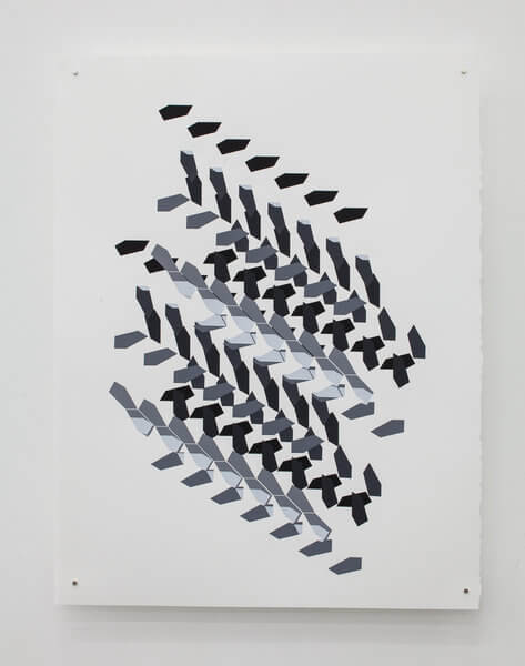 1195_10 Jan Tichy, Type 15 ,2015, Screen print, acrylic on paper, 74x57 cm (9)-473x600