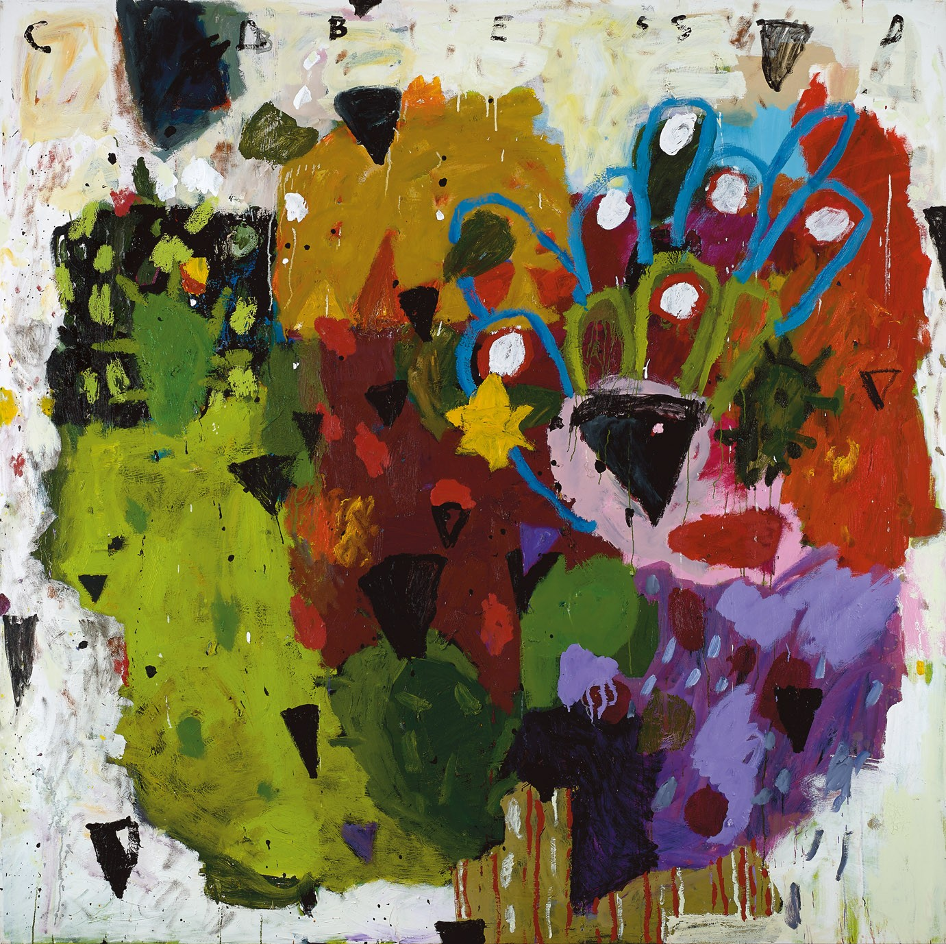 Amit Cabessa, Strong in Spirit, 2018, Oil on canvas 200 x 200 cm