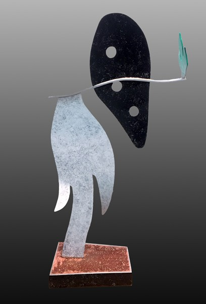 1524_Zigi Ben-Haim, 2017, Aluminum Painted, H - 177 cm, Unique-408x600