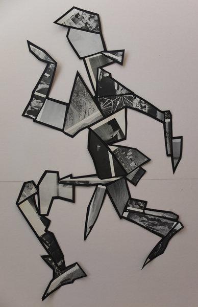 1516_Gilad Kahana, The Walking Man, 2016, Collage, 102x62 cm-388x600
