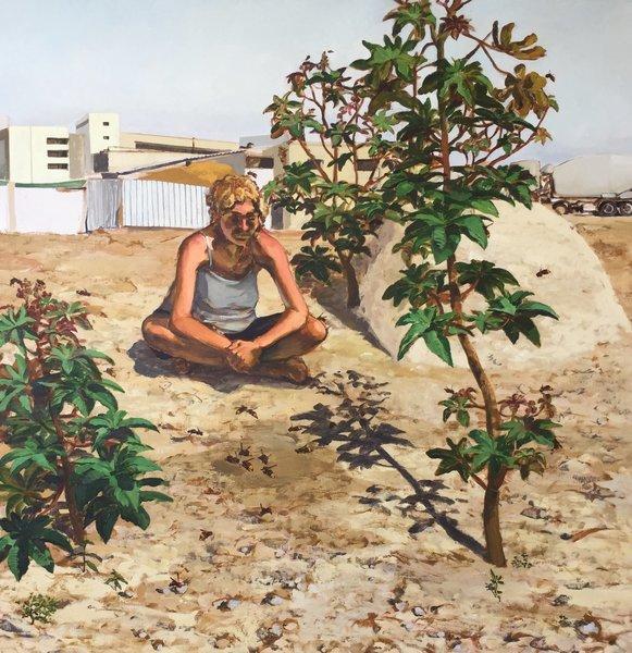 1418_Alma Itzhaky, The Hornets, 2017, Oil on canvas, 200x200 cm-581x600