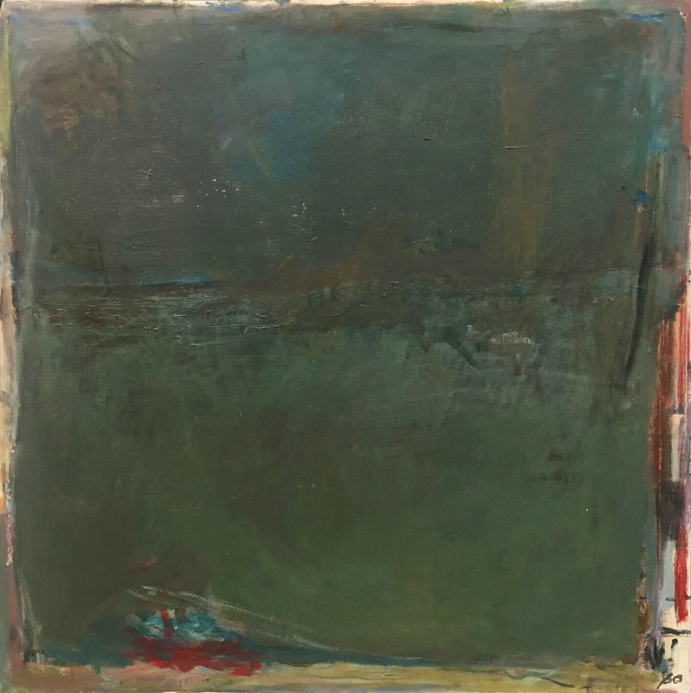 1474_Yehezkel Streichman, 1980, Oil on canvas, 100x100 cm 12,500$-1412x1416