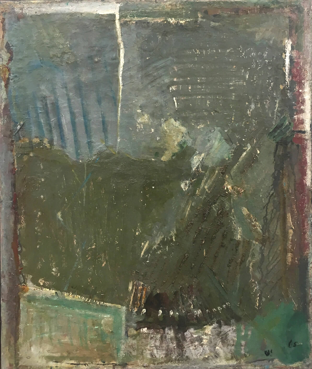 1477_Yehezkel Streichman, 1965, Oil on canvas, 81x65 cm 9,500$-1302x1536