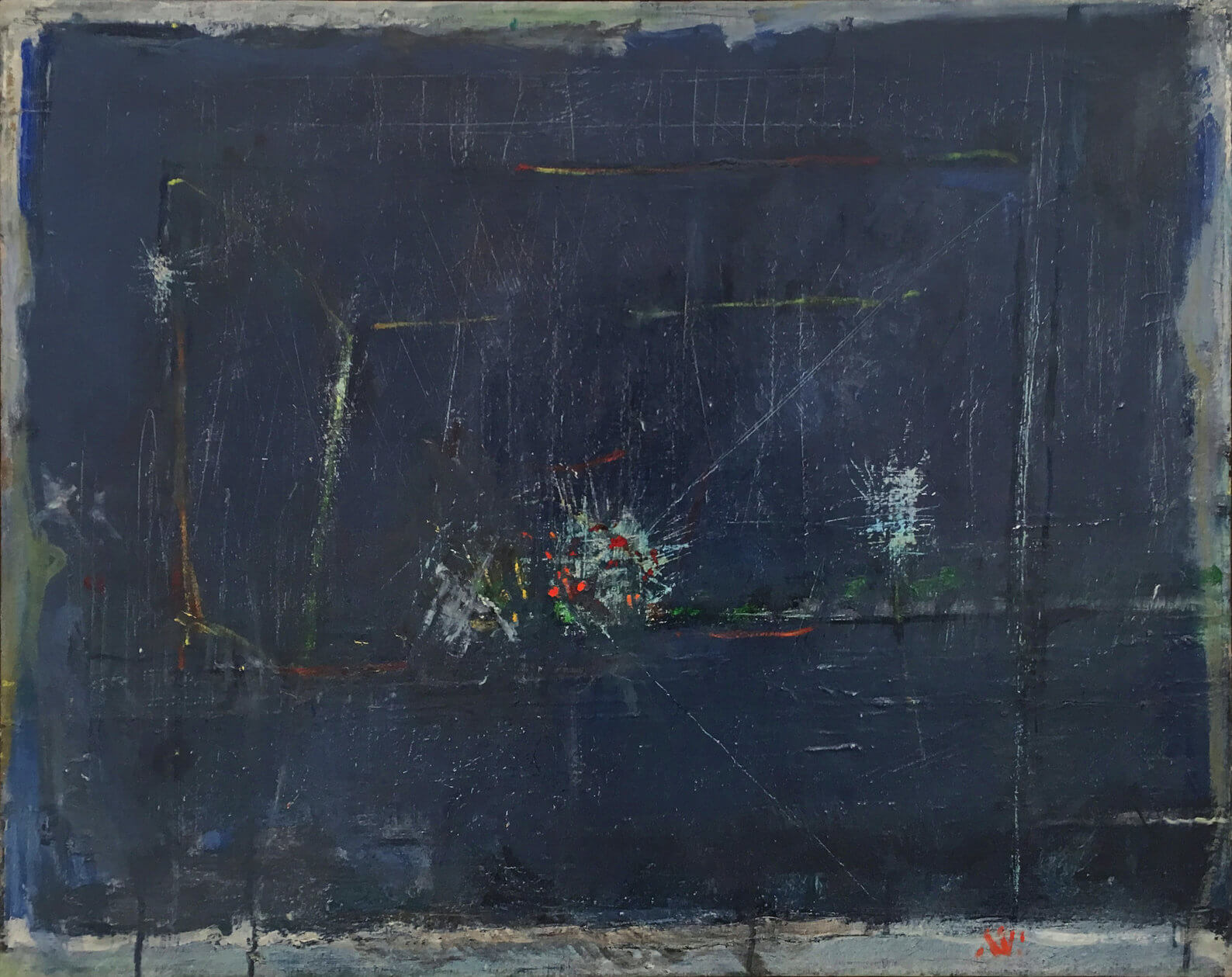 1475_Yehezkel Streichman, 1965, Oil on canvas, 65x81 cm 9,500$-1588x1259
