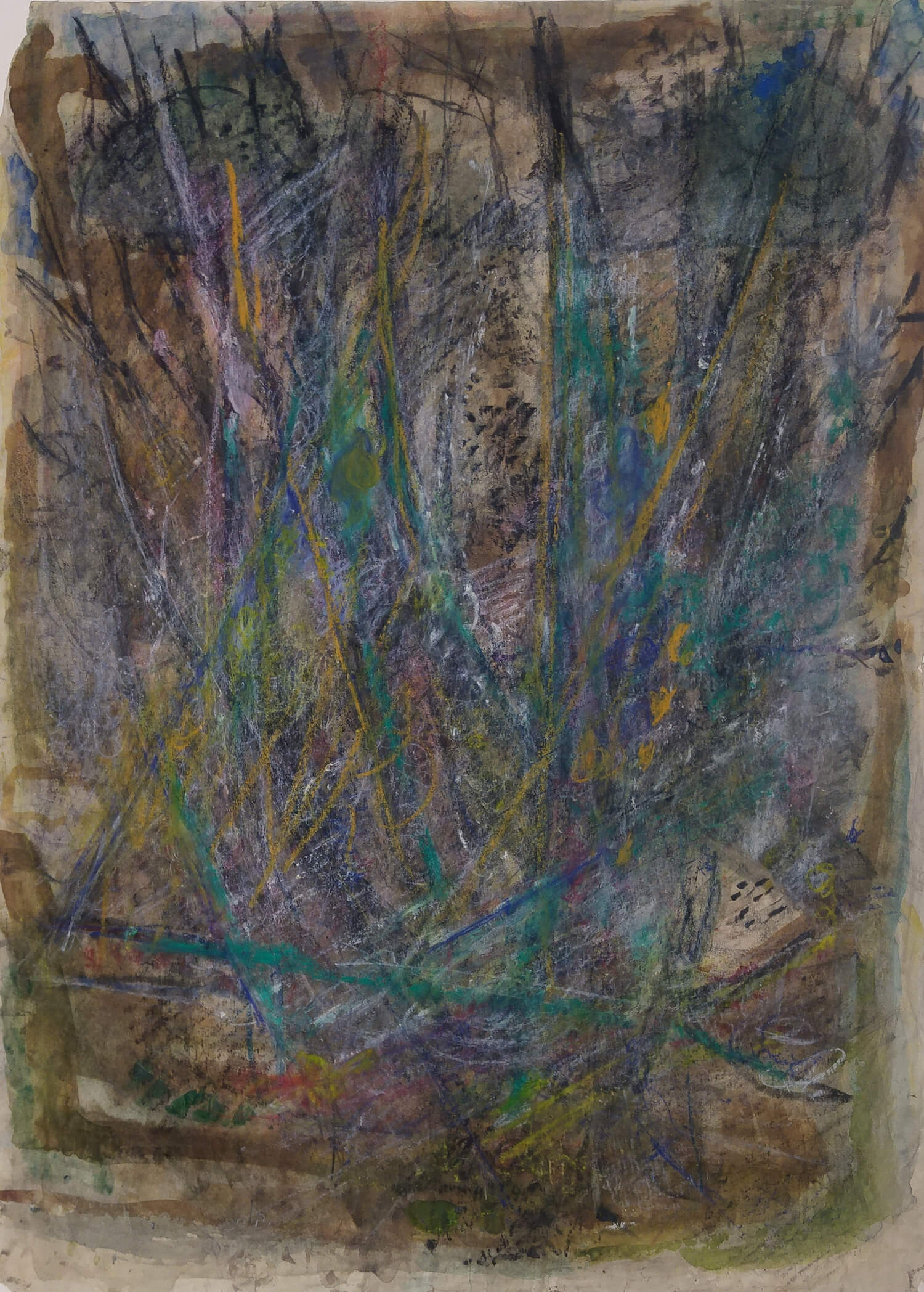 1465_Yehezkel Streichman, Pastel, pencil and..