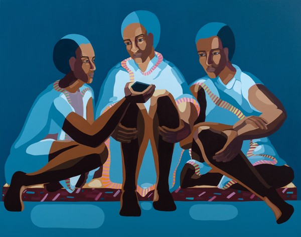 1603_Nirit Takele, Three Views, 2018, Acrylic on canvas, 110x140 cm-600x472
