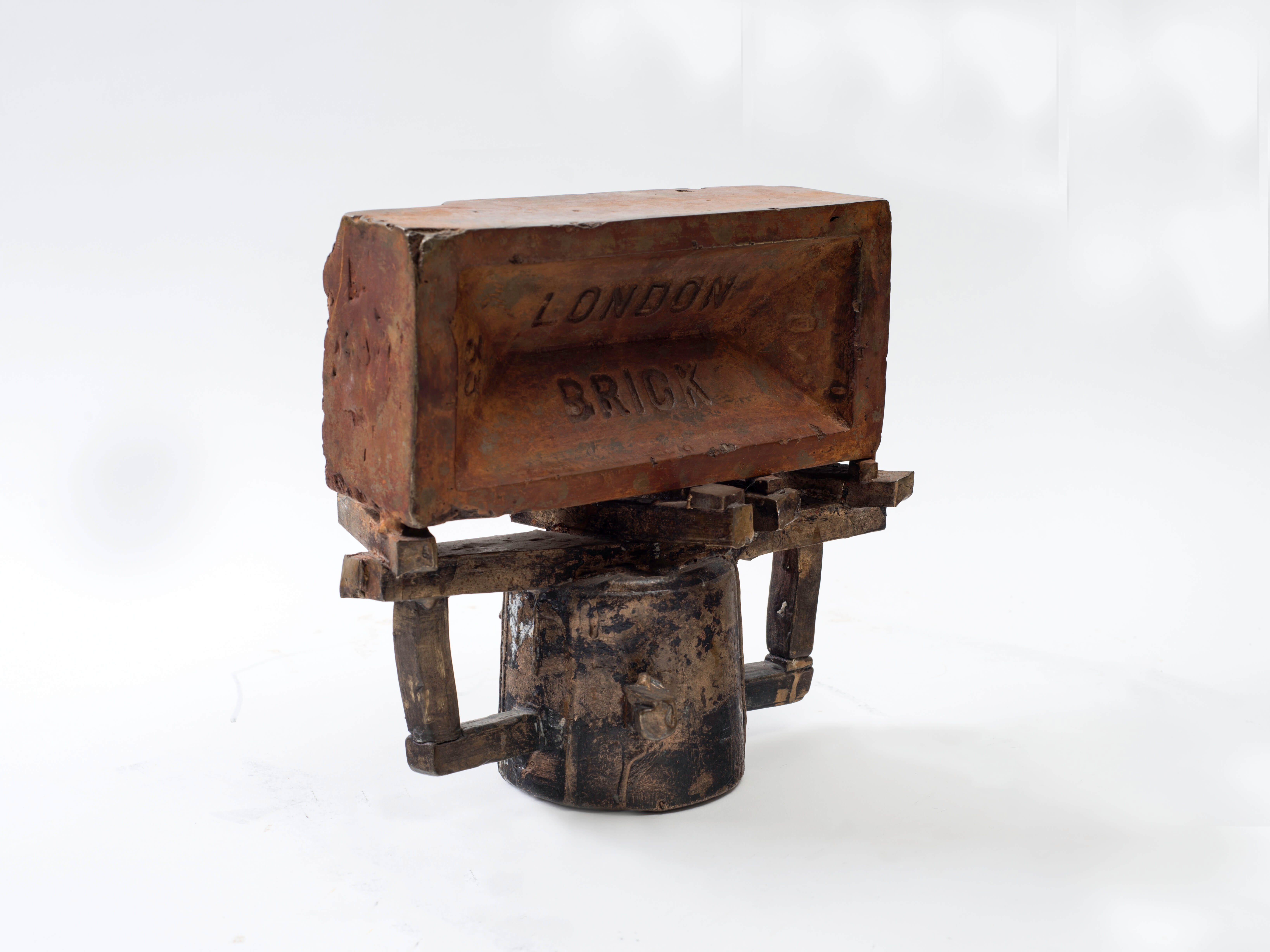 1228_Drora Dominey, London Brick, 2015, Bronze, iron, concrete and building debris, 20x20x10 cm-6549x4912