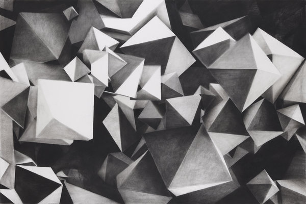1265_Hillel Roman, Void Fraction, 2015, Charcoal on paper, 160x240 cm-600x400