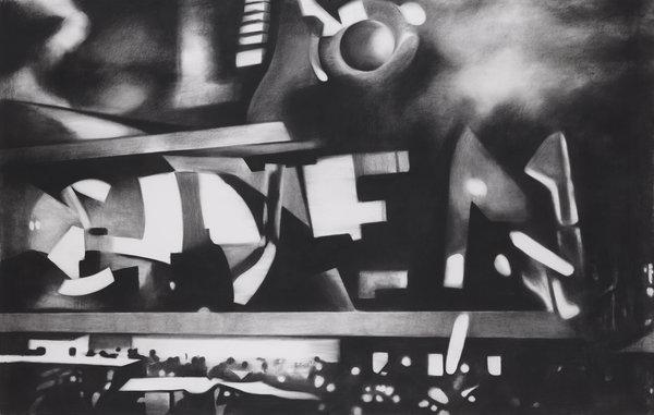 1261_Hillel Roman, CINEMA, 2015, Charcoal on paper, 160x250 cm-600x381