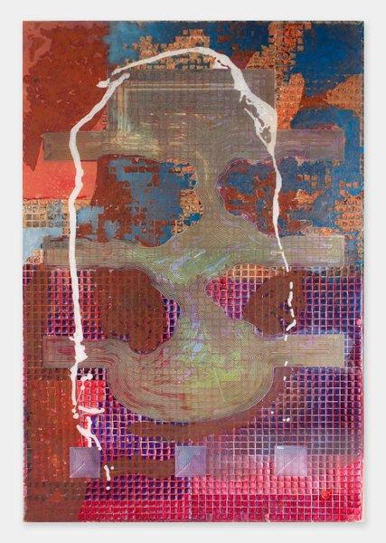 Darren Goins, 035r, 2014, acrylic, urethane on etched acrylic panel, 183x122 cm-427x600