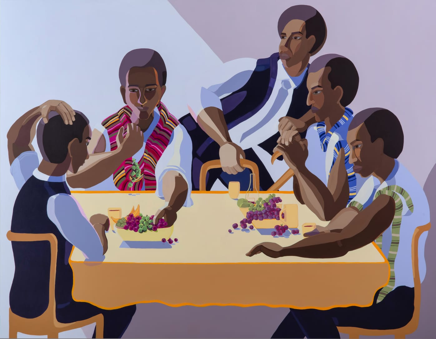Nirit Takele, The invited guest, 2018, Acrylic on canvas, 165x210 cm