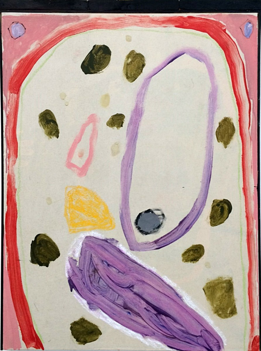 6 - Pigeon (Garden), 2014, Oil and mixed media on canvas with wood, 124x91 cm,