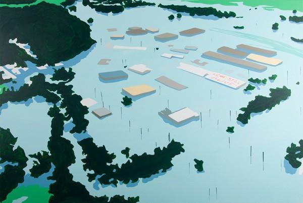 666_00 Brian Alfred, Flood, 2010, Acrylic on canvas, 122x183 cm-600x402