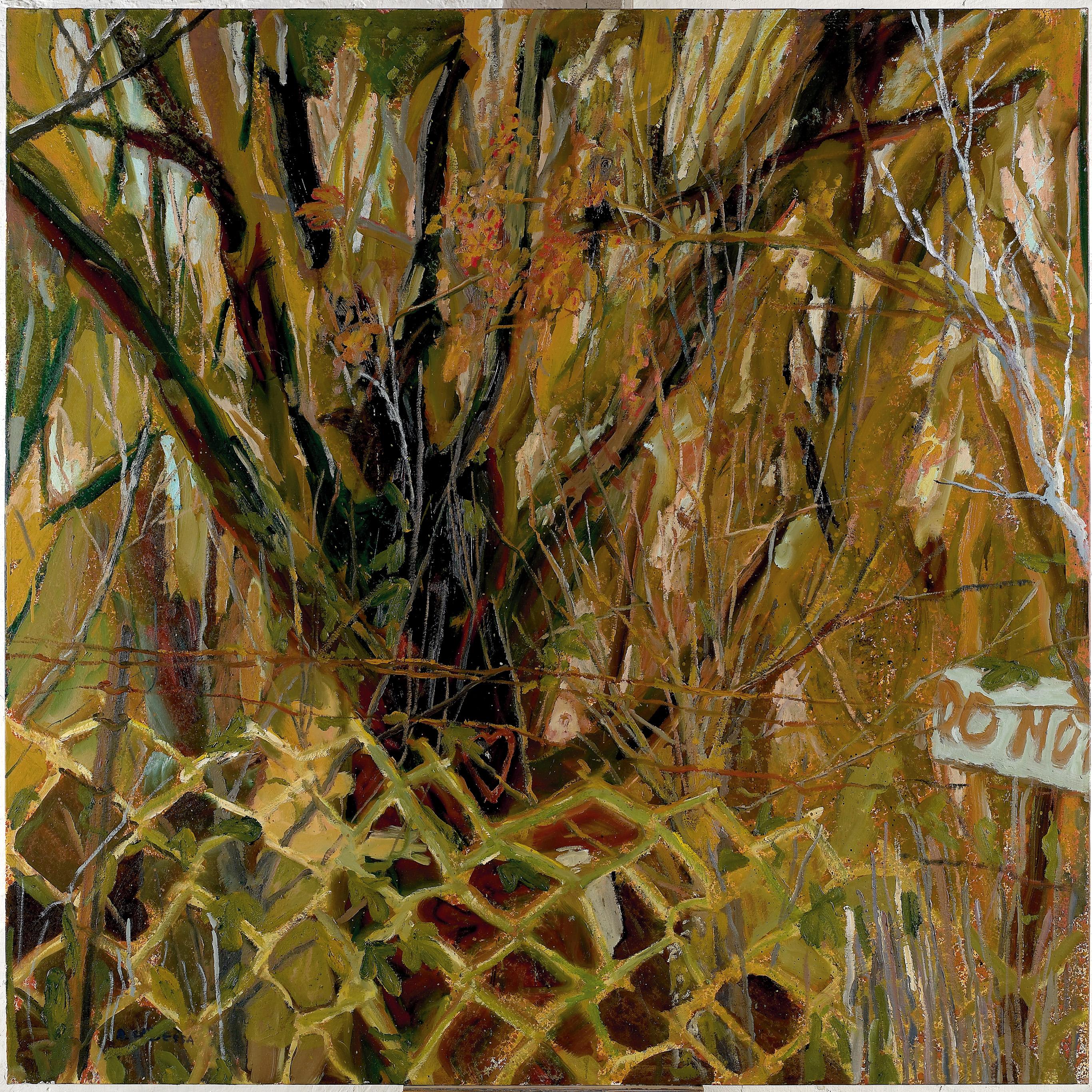 Amit Cabessa, Man, Woman and Tree, 2010, Oil on Canvas, 170x170cm, $14,000