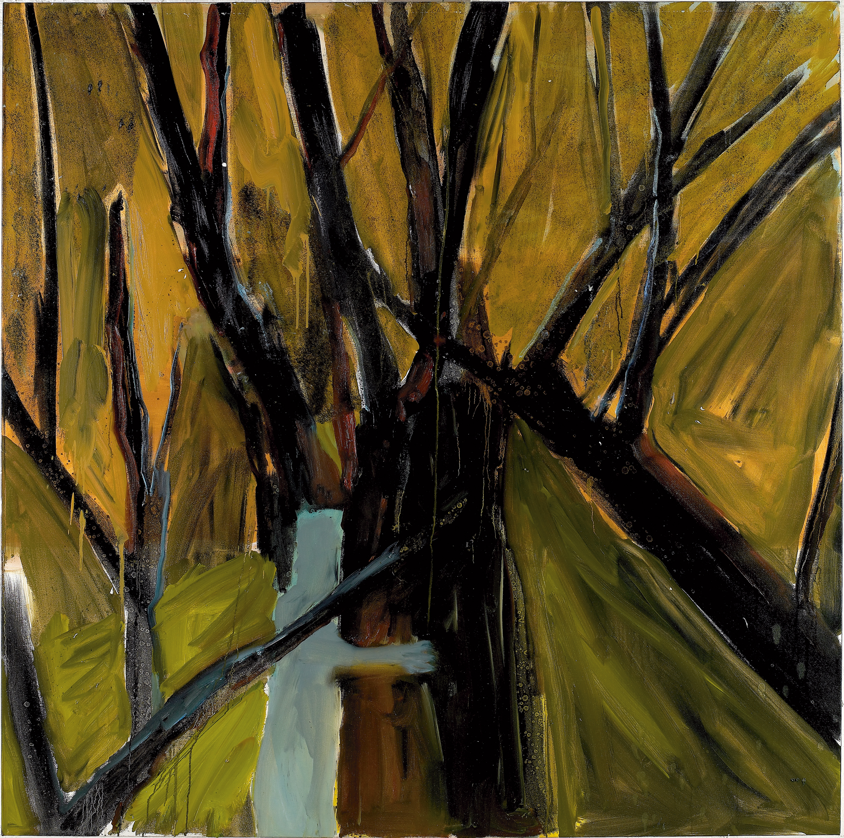 Amit Cabessa, Man and Tree, 2010, Oil on Canvas, 170 x 170 cm, 14.000$
