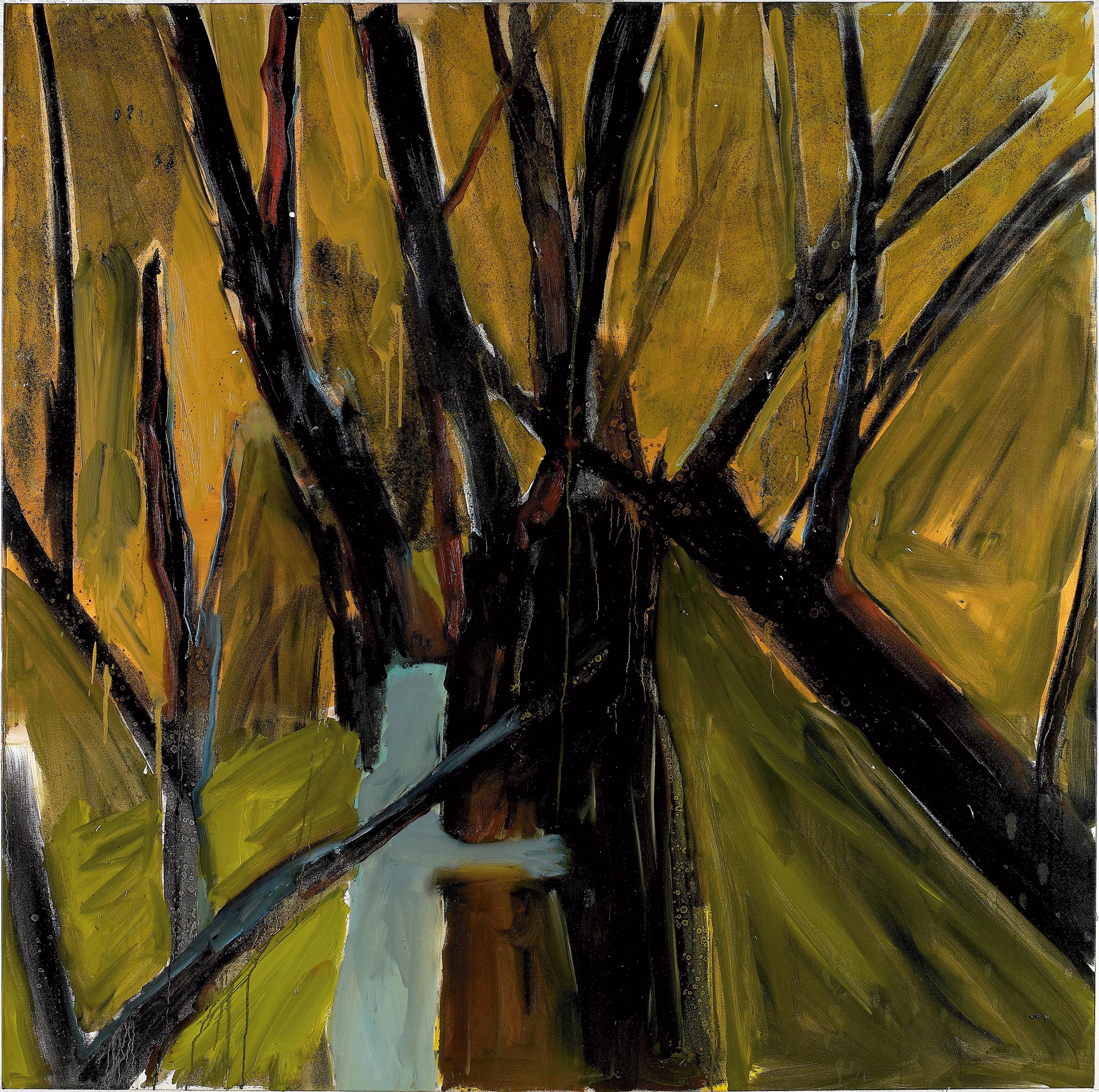 Amit Cabessa, Man and Tree, 2010, Oil on Canvas, 170 x 170 cm, 14.000$
