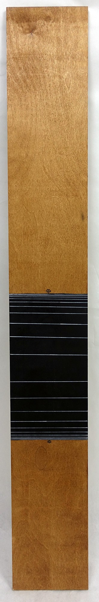 Klone, Mutual Attraction, Enamel and ink on wood, 2016, 148x20 cm