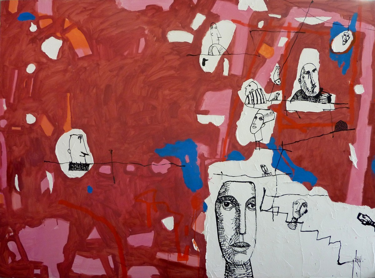 Leo Ray, Faces Oil on Canvas, 2013 160X210