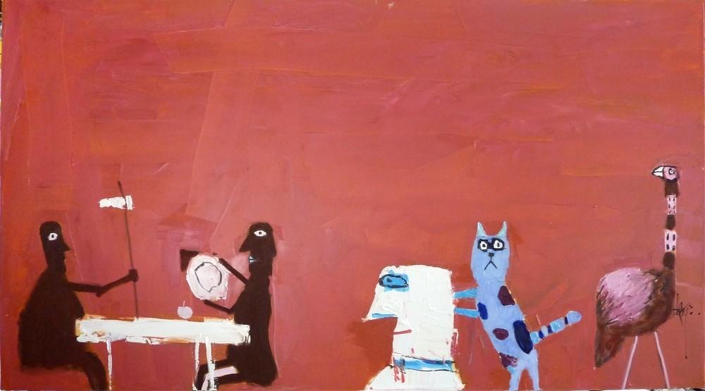 Leo Ray, Espresso Oil on Canvas, 2012 100X180