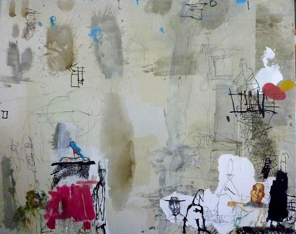 Leo Ray, Balcony Oil on Canvas, 2011 150X180