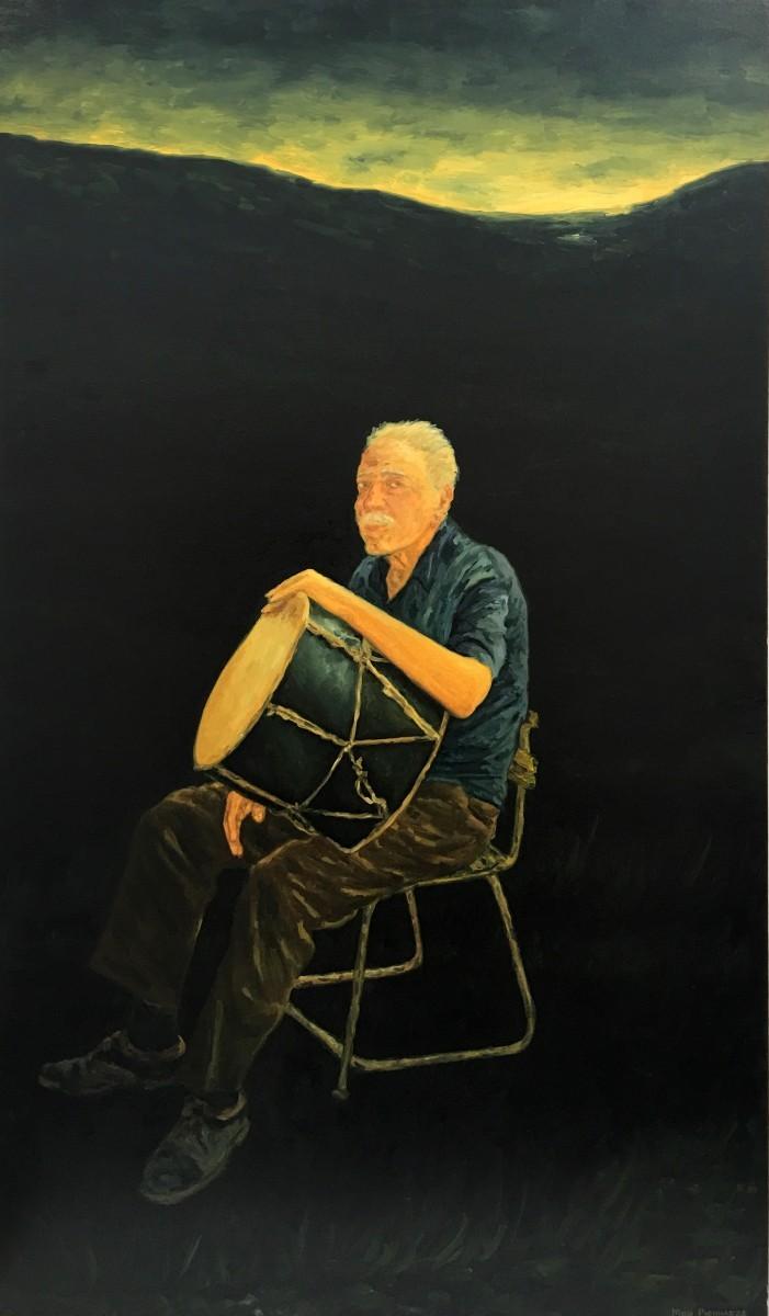 S-399, Meir Pichhadze, 2000, Oil on canvas, 147x86 cm 58,000 sekel