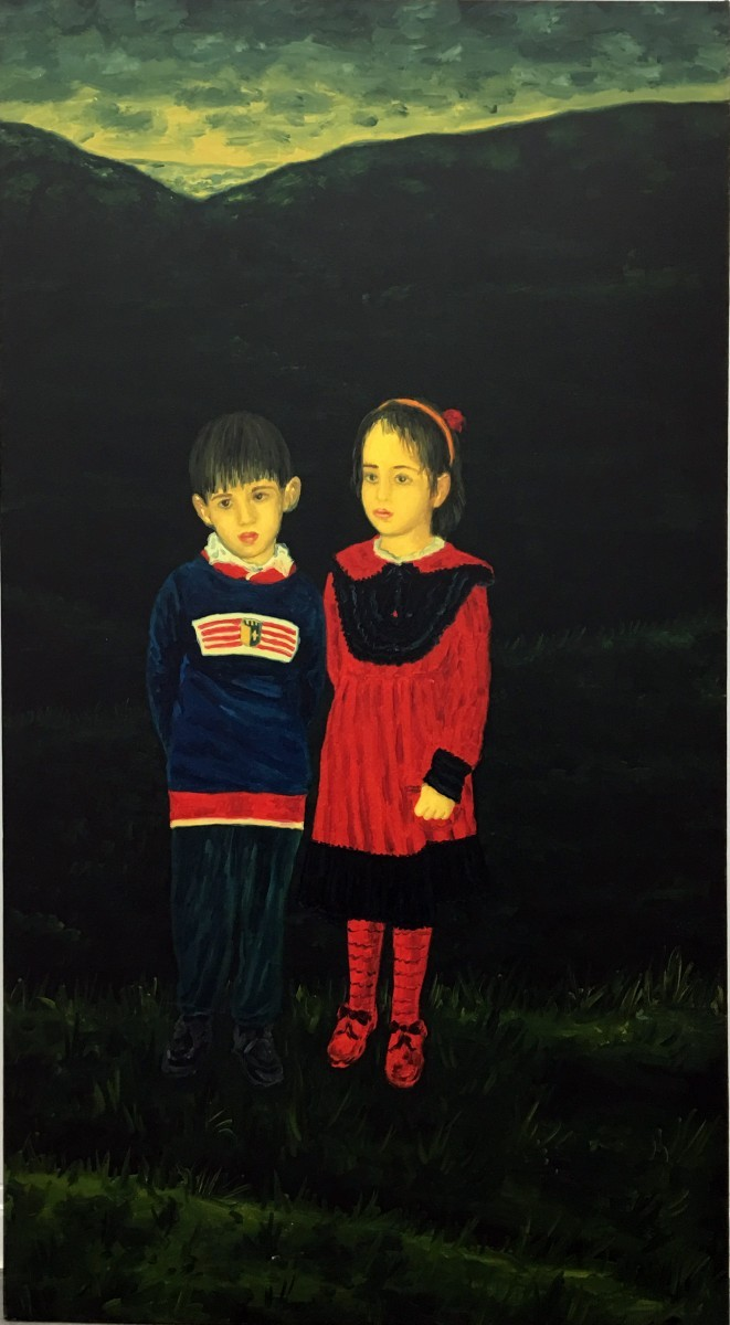 S-398, Meir Pichhadze, Oil on canvas, 147x81 cm 65,000 sekel