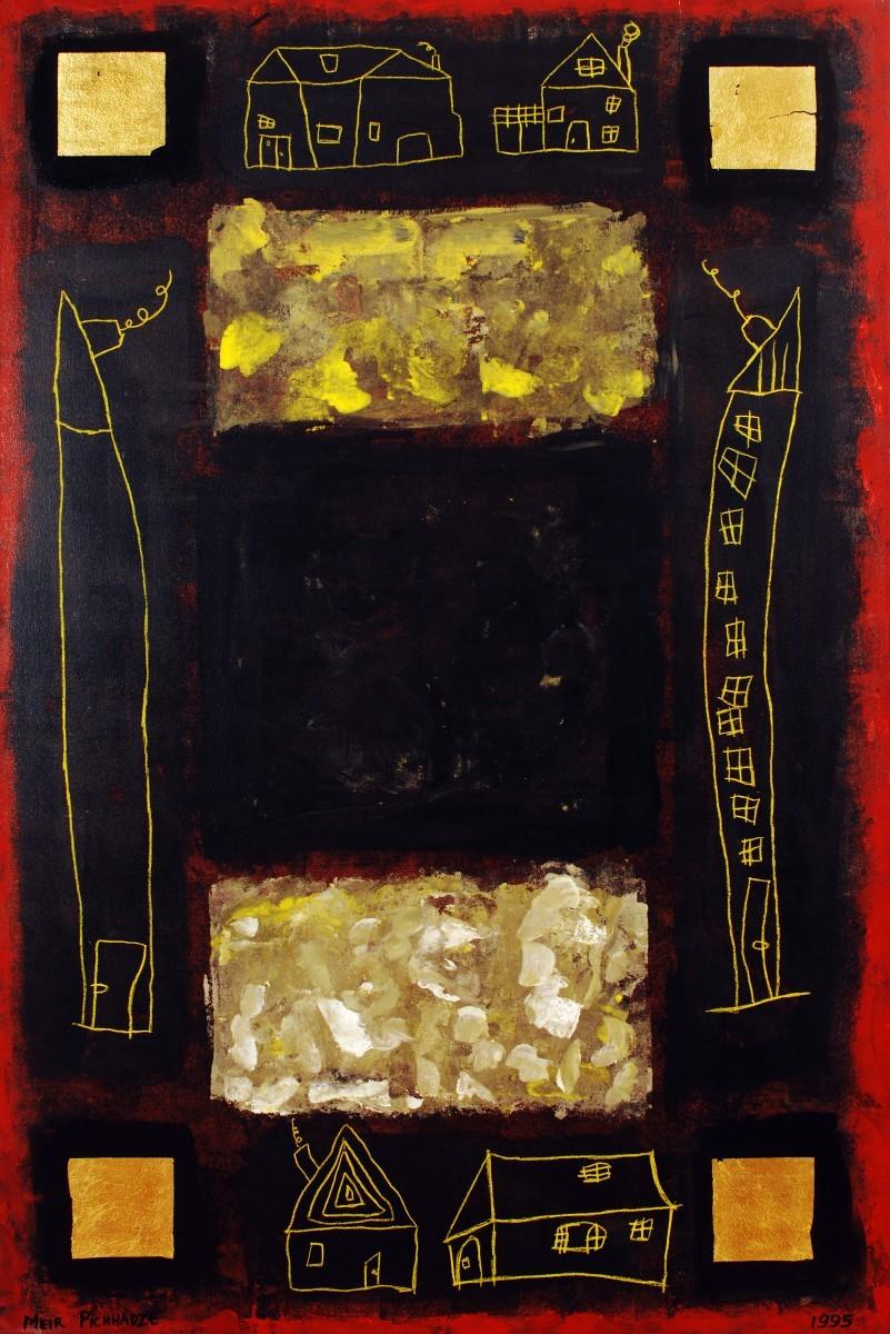 S-372, Meir Pichhadze, 1995, Oil on canvas, 181x121 cm 18,000$