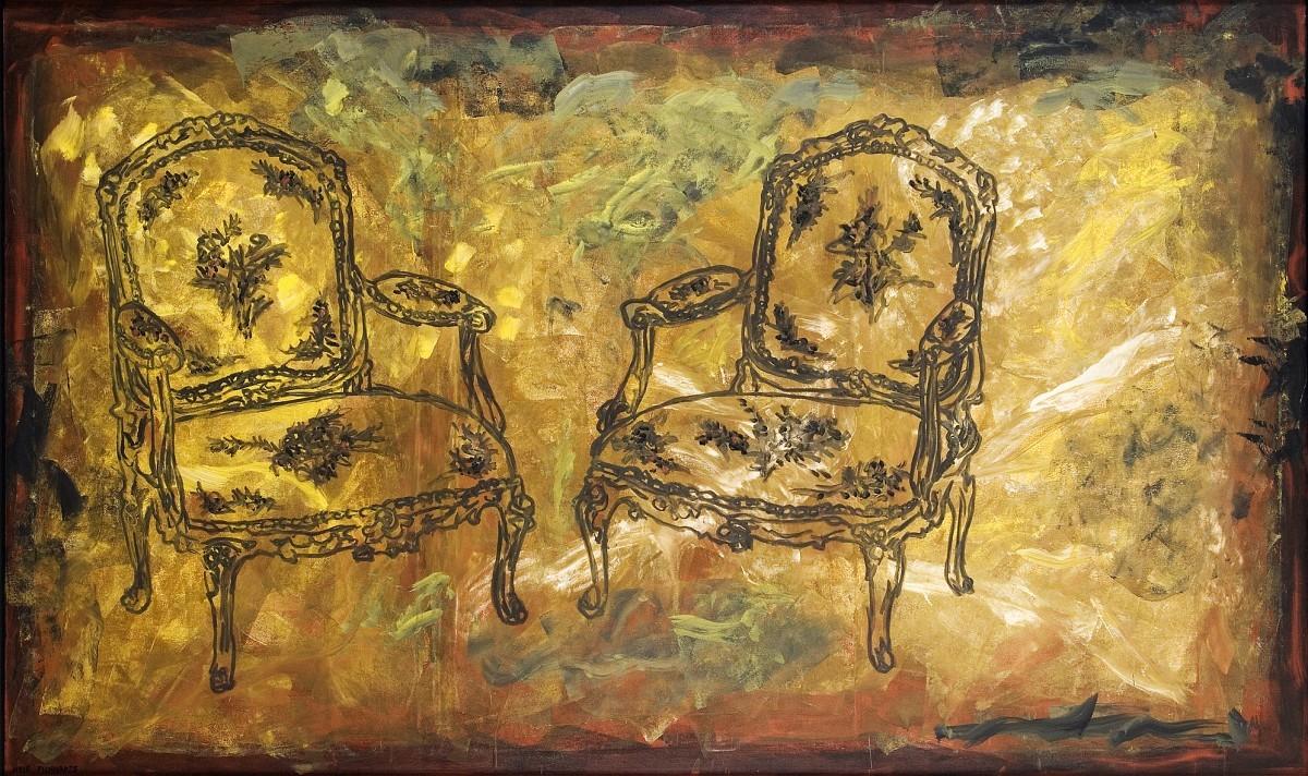S-354, Meir Pichhadze, 1990, Oil on canvas, 160x260 cm 22,000$
