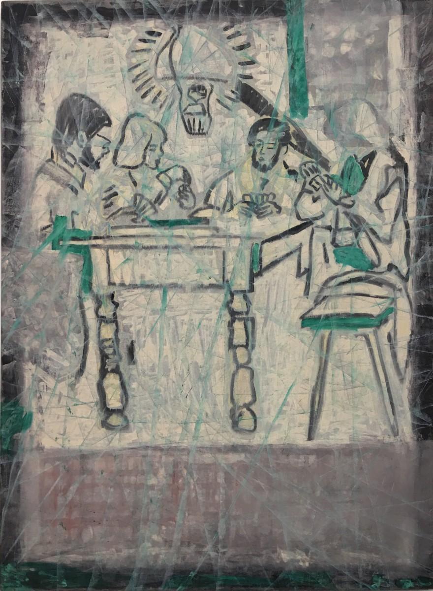 S-315, Meir Pichhadze, 1985, Oil on canvas, 159x116 cm 15,000$