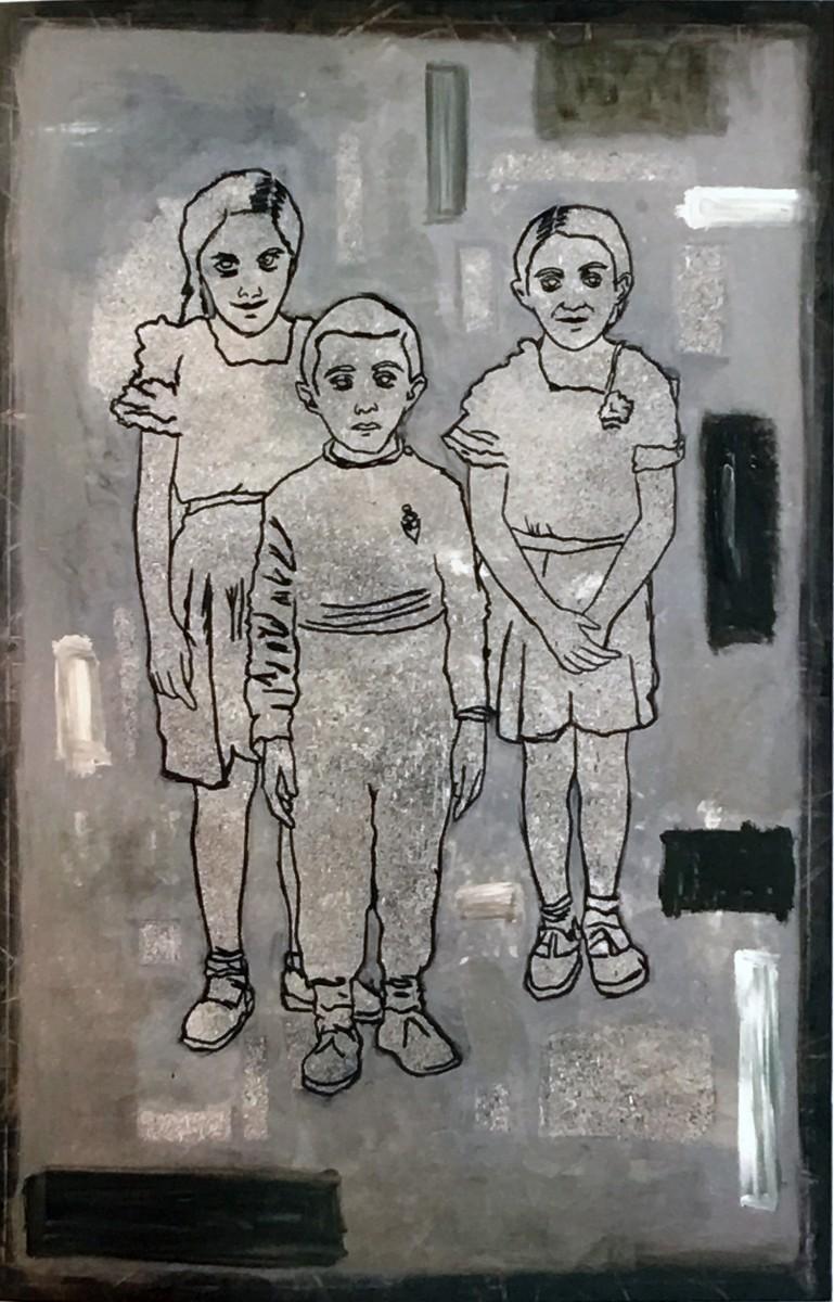 S-249, Meir Pichhadze, 1985, Oil on canvas, 225x150 cm 18,000$