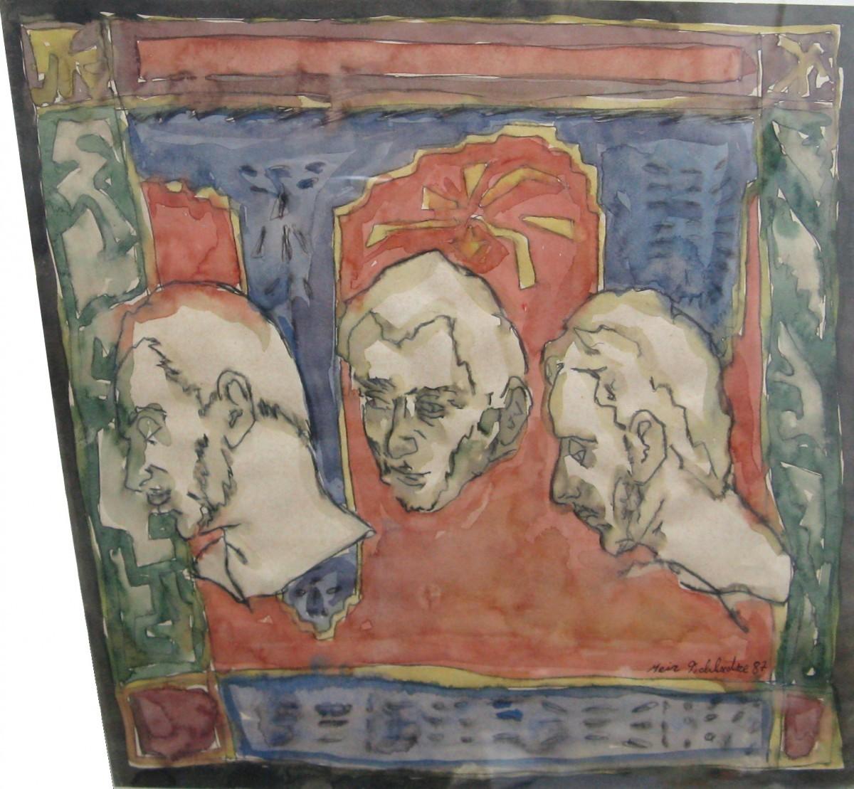 S-162, Meir Pichhadze, Watercolor, 34x37 cm 2,200$