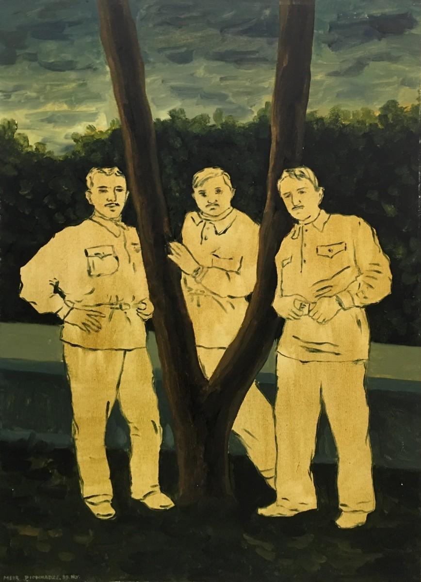 S-132, Meir Pichhadze, 1995, Oil on canvas, 72x48 cm 23,000 sekel