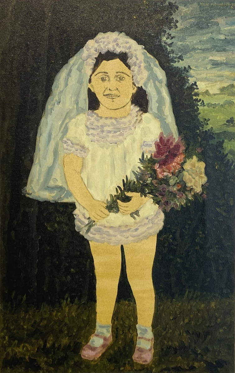 S- 124, Meir Pichhadze,1995, Oil on canvas 69 x 43