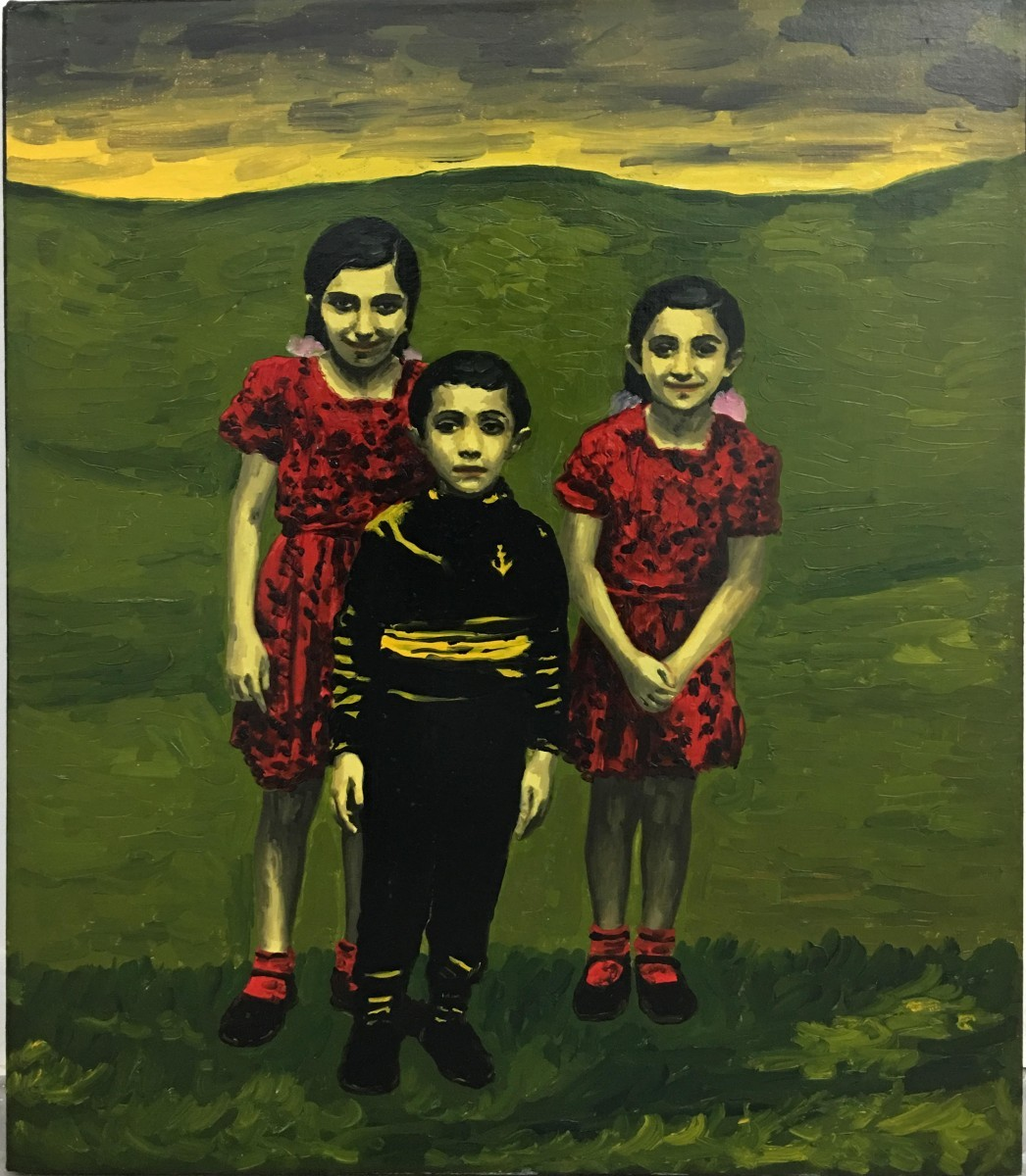 S-119, Meir Pichhadze, 1996, Oil on paper mounted on canvas, 61x51 cm 9,500$