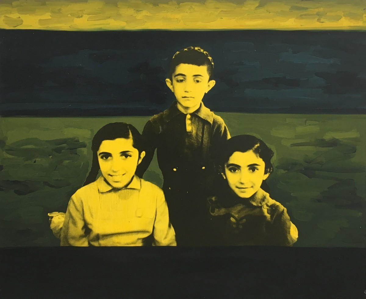 S-10, Meir Pichhadze, 1996, Mixed media on canvas, 51x61 cm 14,800 sekel