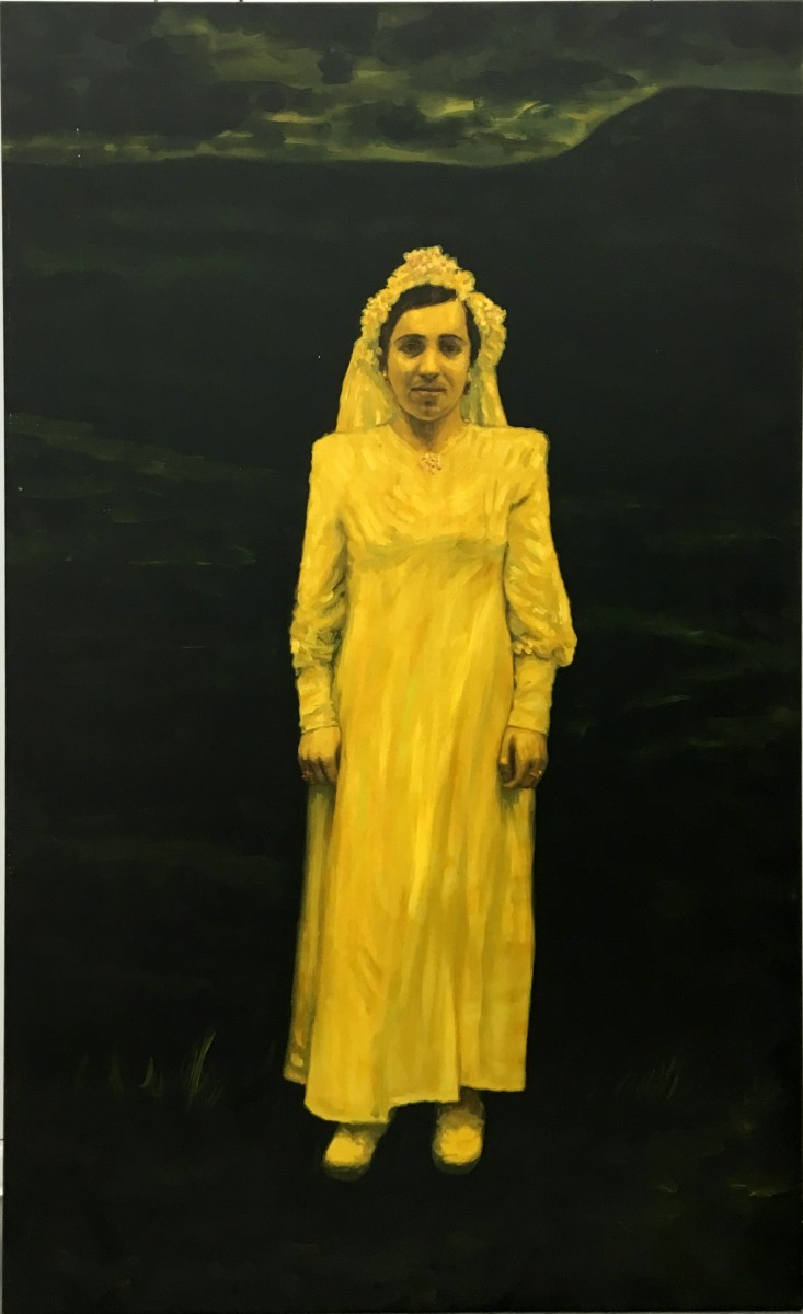S-101, Meir Pichhadze, Oil on canvas, 181x110 cm, 2001 68,000 sekel