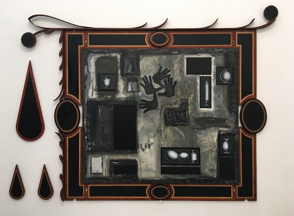 S-73, Meir Pichhadze, Untitled, 1987-1988, Mixed media on canvas and wood, 220x305 cm 22,000$