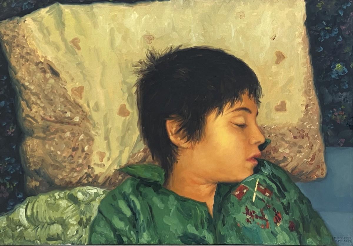 S- 727, Meir Pichhadze,1997, Oil on canvas 45 x 65 cm, 28,500 sekel