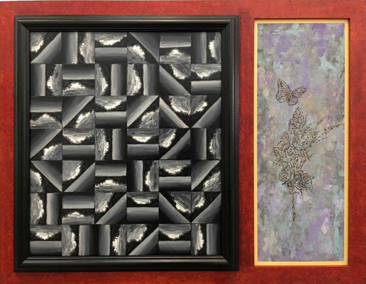 S-527, Meir Pichhadze, 1993, Oil on wood, 91x117 cm 6,000$