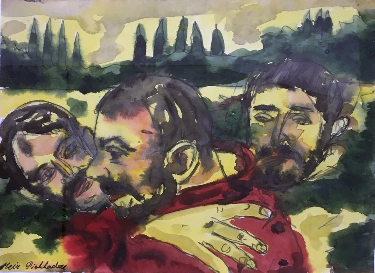 S-520, Meir Pichhadze, Watercolor, 35x27 cm 1,800$