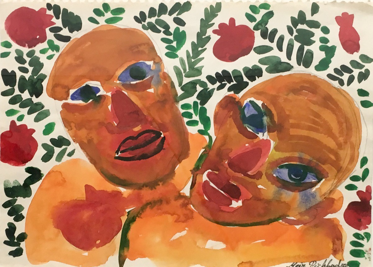 S-518, Meir Pichhadzes1987, Watercolor on paper, 35x27 cm 1,800$