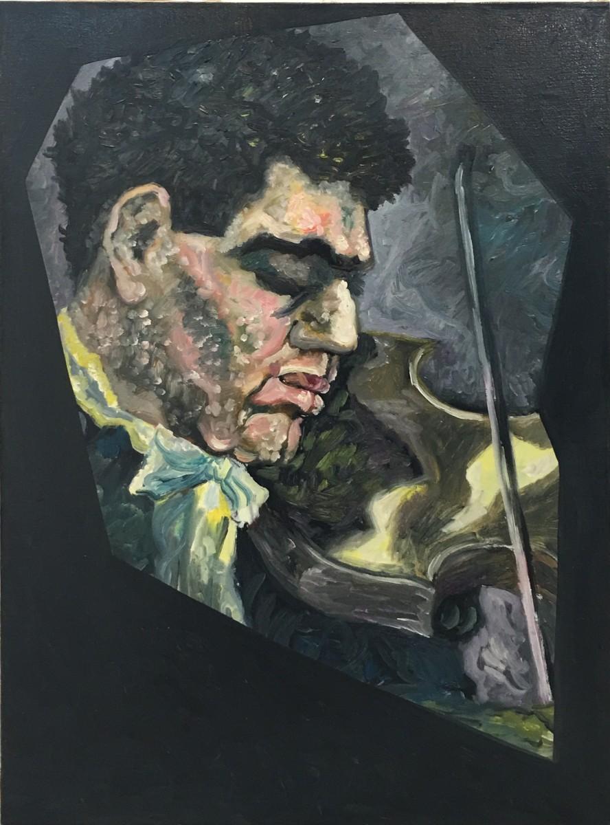 S-8, Meir Pichhadze, 1996, Oil on canvas, 70x51 cm 5,000$