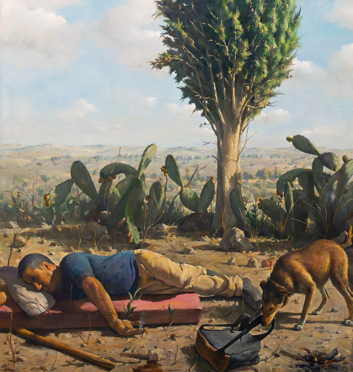 Ilan Baruch, Rest, Oil on canvas 150 x 140 cm, 15,000$