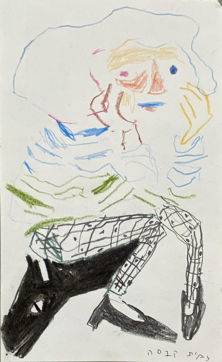 Amit Cabessa, 2020, Mixed media on paper, 21x13 cm
