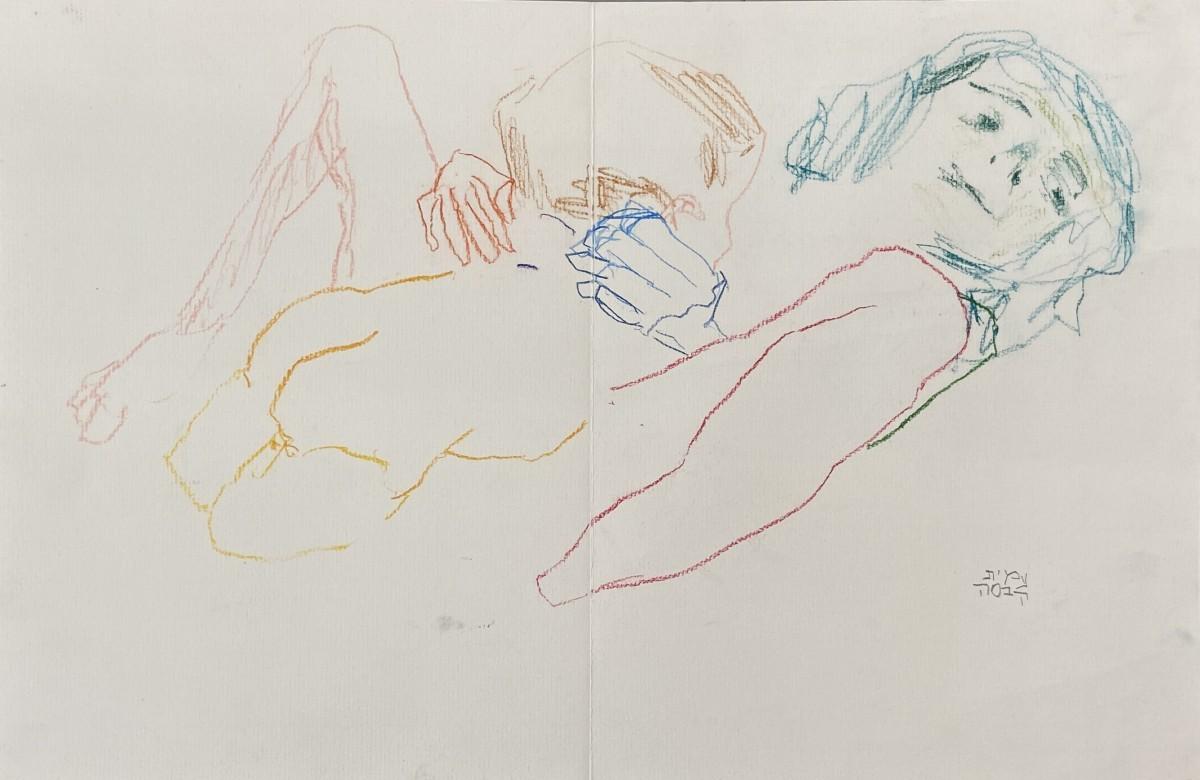 Amit Cabessa, 2020, Colored pencils on paper, 30x45 cm