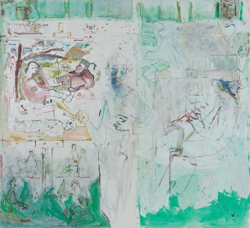 Yehezkel Streichman and Yair Garbuz, Oil on cavnas, 182x200 cm