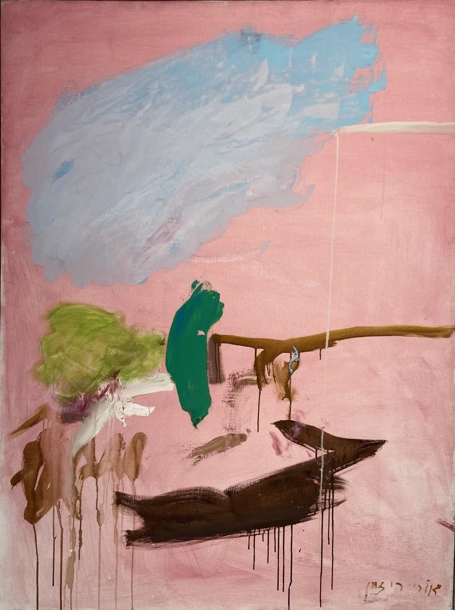 Ori Reisman, Landscape of Mourning,1980, Oil on canvas 116 x 81 cm
