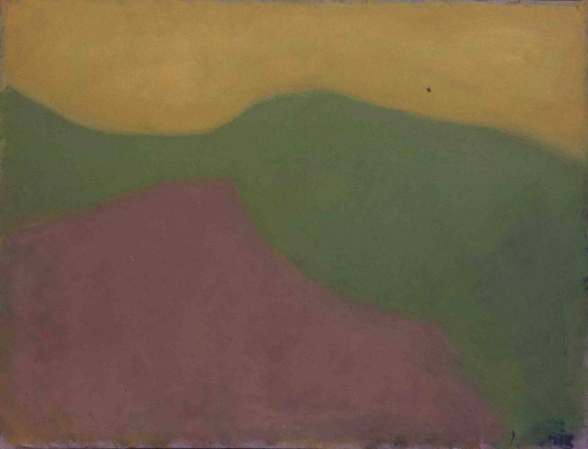 Ori Reisman, Wadi Koren Landscape, 1970's, Oil on canvas 85.5 x 115