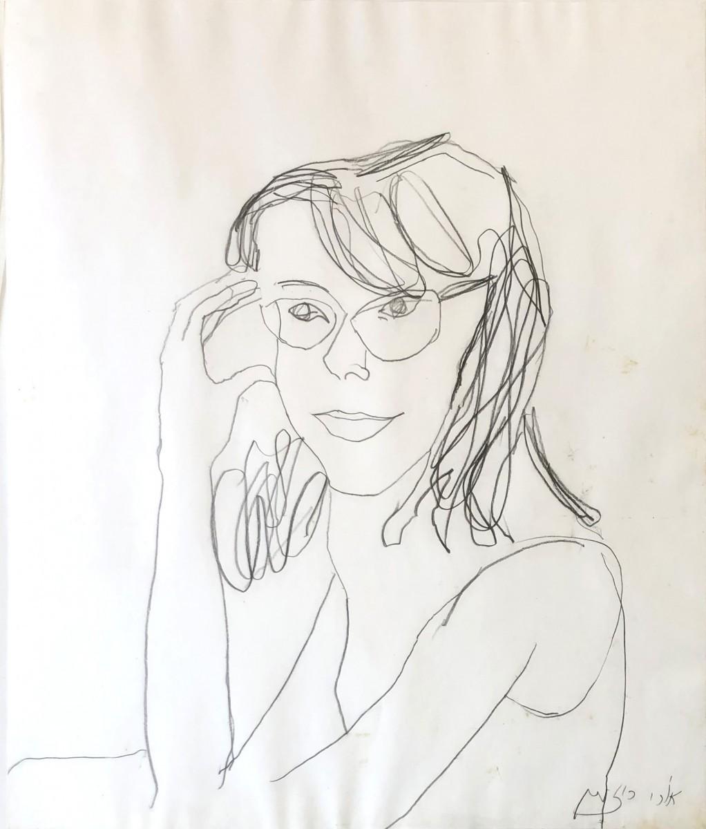 Ori Reisman,Portrait, pencil on paper 57 x 48 cm