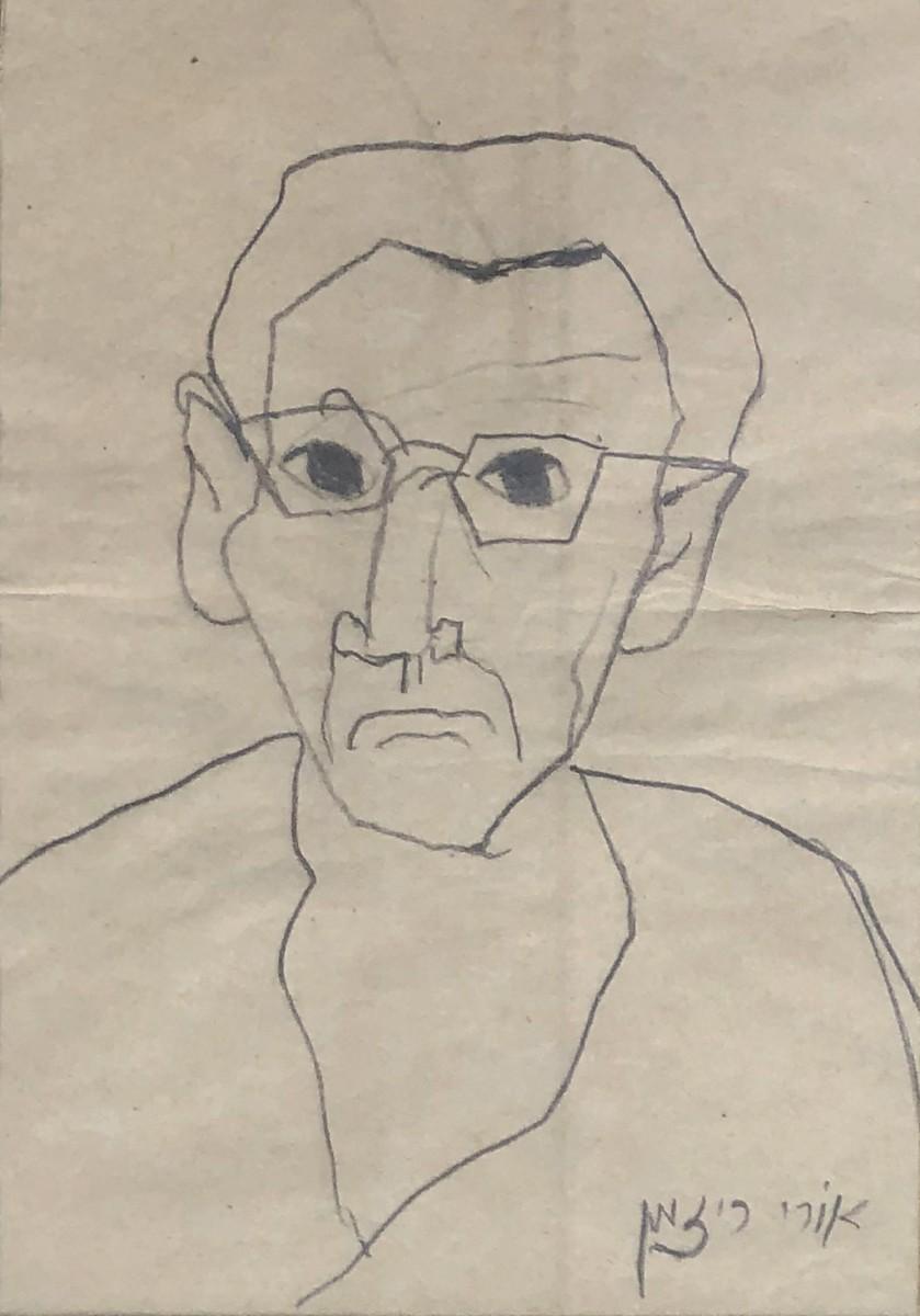 Ori Reisman,Portrait, pencil on paper, 25x19 cm